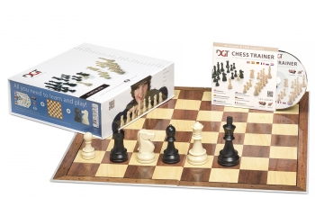 DGT BLUE SET chess pieces + board + CD